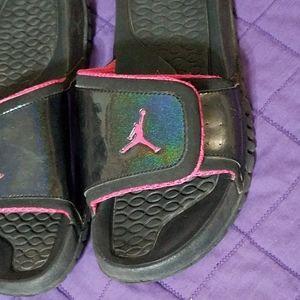 Nike Air Jordan sandals with rainbow Shimmer